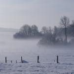 Notre vue sans vis vis en hiver