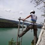 Viaferrata au dessus du lac de vouglans