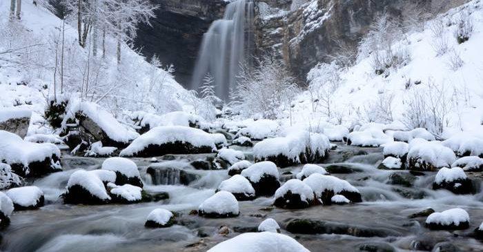 Le pays des lacs en hivers