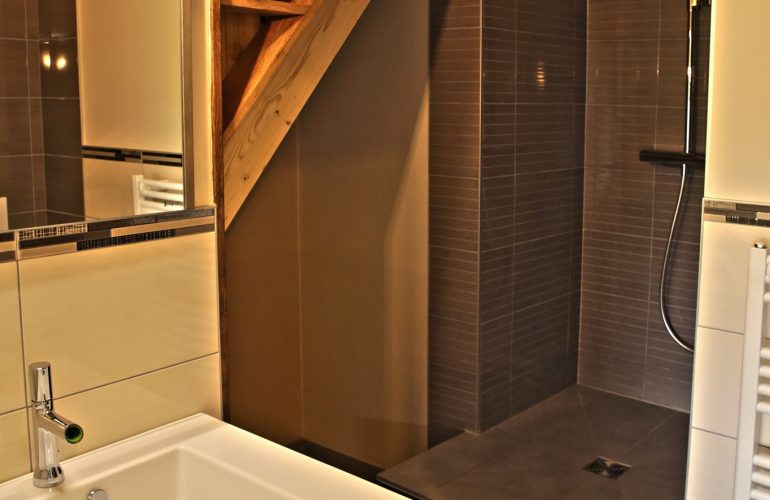 Salle de bain grand saut